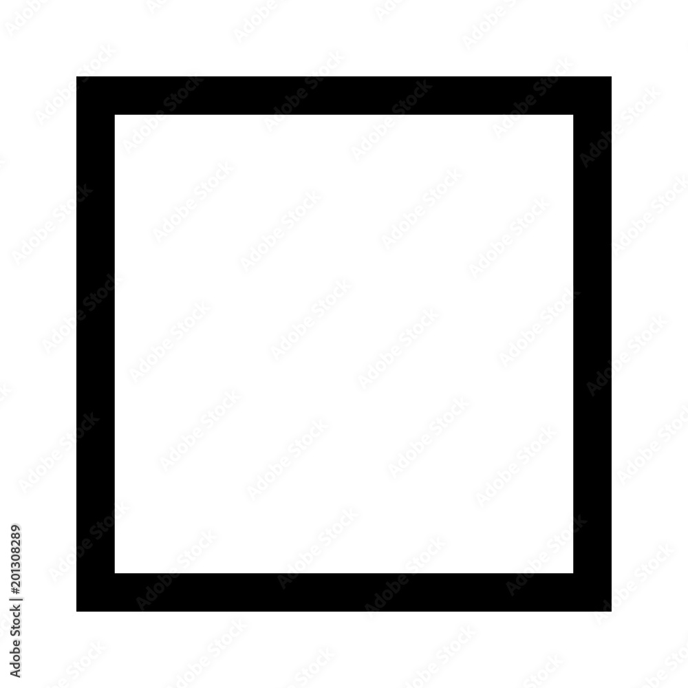 Fototapety, obrazy: Square 4 sided geometric shape line art vector icon for apps and websites