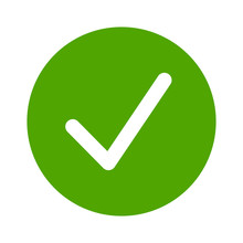 Green Check Circle, Done Or Co...