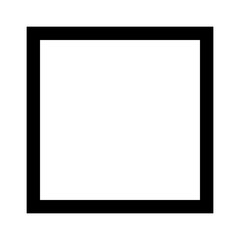 Square 4 sided geometric shape line art vector icon for apps and websites