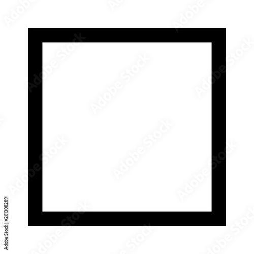 Fotomural Square 4 sided geometric shape line art vector icon for apps and websites