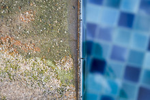 Damaged Swimming Pool Edge By Acid Pool Water, Swimming Pool Problem From Wrong Checmical