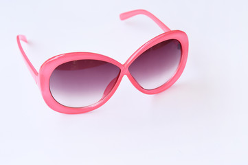 Modern fashionable sunglasses isolated on white background