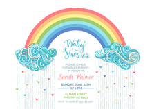 Bright Baby Shower Invitation.