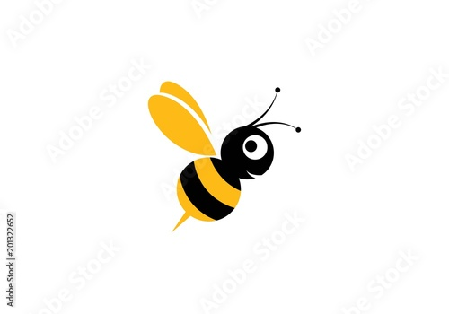 Photographie Bee Logo Template