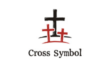 Jesus Cross With Two Thieves Illustration For Church / Christian Logo Design Inspiration