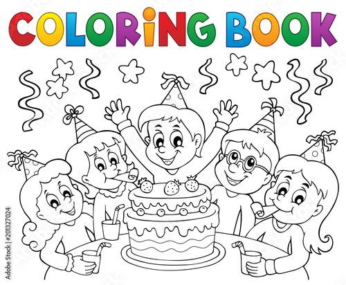 Door stickers For Kids Coloring book kids party topic 1