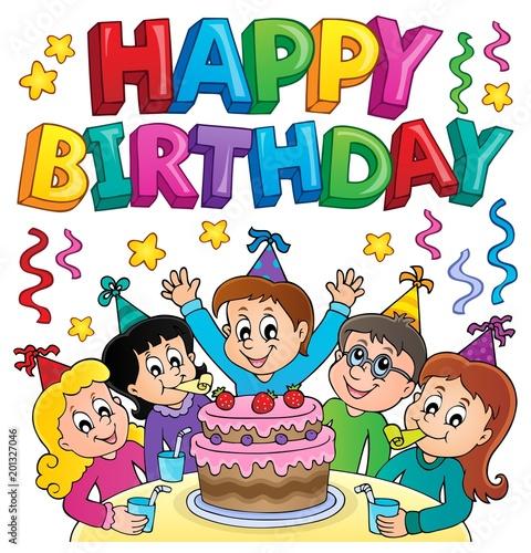 Deurstickers Voor kinderen Happy birthday thematics image 5