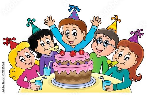 Deurstickers Voor kinderen Kids party topic image 1
