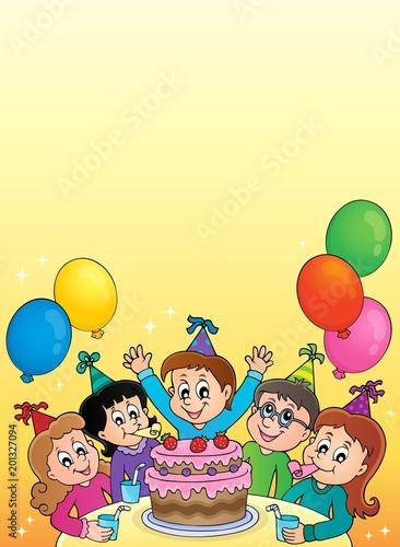 Deurstickers Voor kinderen Kids party topic image 2