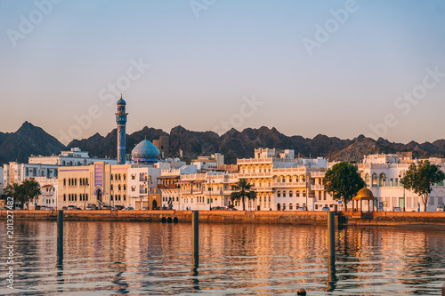 Canvas Prints Middle East Sunrise in Muscat in Oman