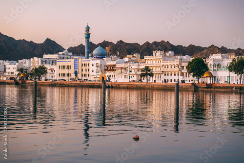 Photo sur Aluminium Moyen-Orient Sunrise in Muscat in Oman