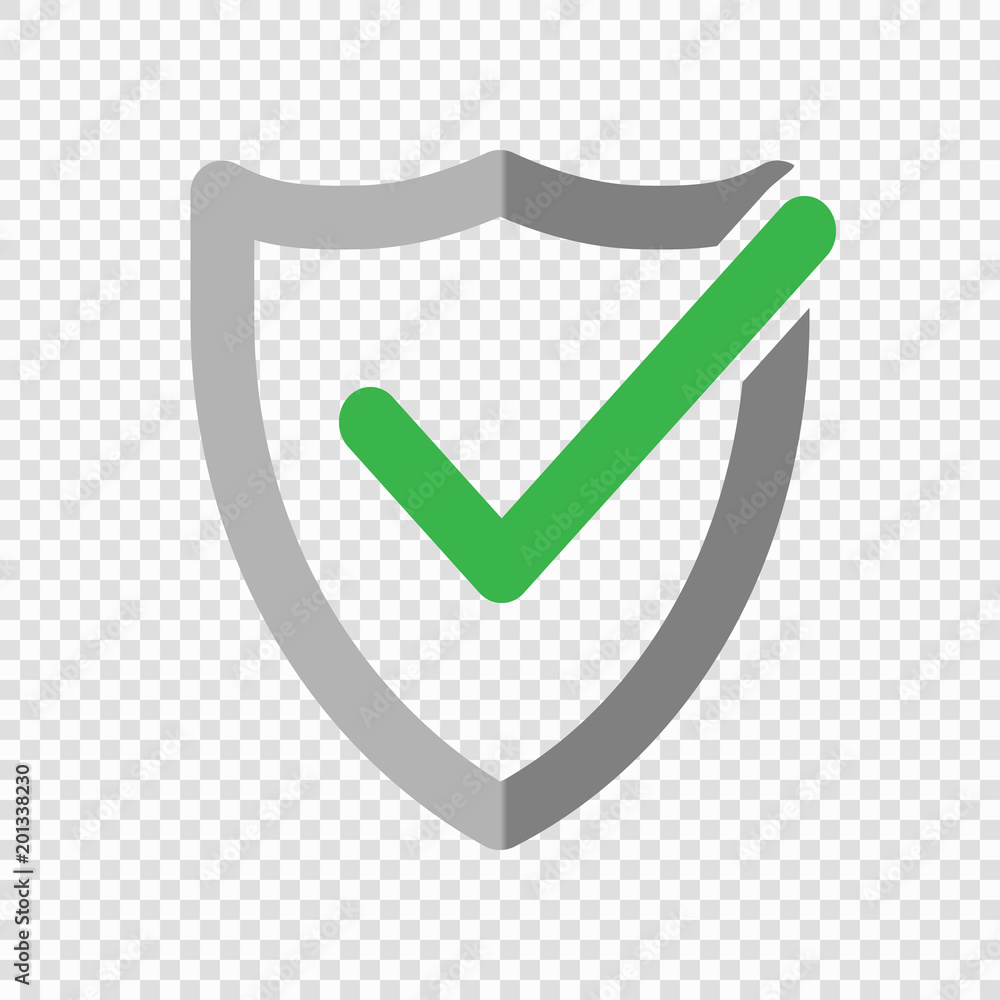 Fototapeta Shield check mark logo icon