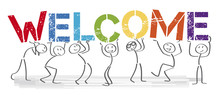 Welcome - People With Big Letters