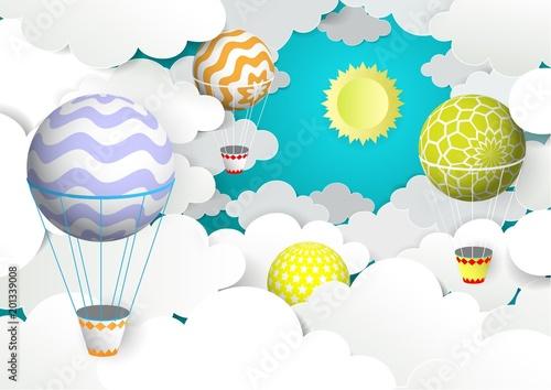 balonow-na-ogrzane-powietrze-na-niebie-ilustracji-wektorowych