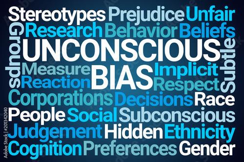Obraz  Unconscious Bias Word Cloud - fototapety do salonu
