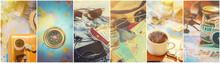 Collage Travel. Selective Focu...