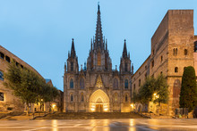 Panorama Of Barcelona Cathedra...