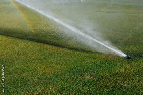 Golf Course Automatic Lawn Sprinkler Buy This Stock Photo