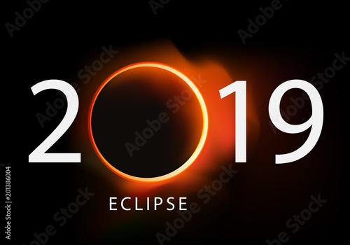 Calendrier Soleil.2019 Eclipse Soleil Solaire Calendrier Lune