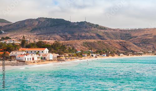 Poster Cote Vila Baleira. Coastal landscape of Porto Santo