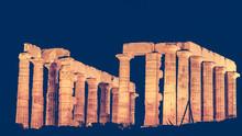 Greek Temple Of Poseidon At Ni...
