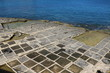 Salt pans for sea salt extraction in Marsaskala, Malta