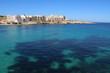 Bay of Il-Bajja ta' Marsaskala at the Mediterranean Sea, Malta