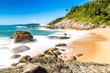 Beach in Balneario Camboriu, Santa Catarina, Brazil. Estaleirinho Beach.