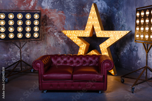 Canvas sofa star lamp