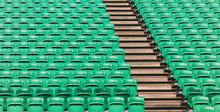 Green Empty Stadium Folding Se...