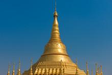 Shwedagon Pagoda Is A Beautiful Golden Pagoda Located At Tachileik, Myanmar.