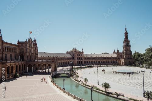 Spanish Palace exterior, Sevilla, Andalusia, Spain