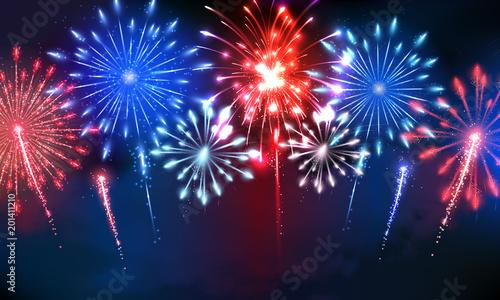 Obraz 4th of July Fireworks - fototapety do salonu