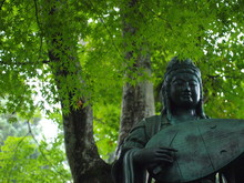 Kannon Statue In Temple Close To Kyoto, Japan