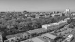 SAVANNAH, GA - APRIL 3, 2018: Aerial city view. Savannah is a famous destination in Georgia