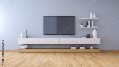 Pinturas sobre lienzo  TV cabinet , modern interior of living room design and Cozy Living style  ,3d il