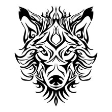Wolf Face Head Or Wolf Face De...