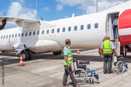 Photo transports aériens, prise en charge des personnes à mobilité réduite