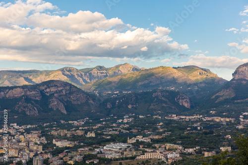 Foto op Aluminium Blauw The beautiful view of Sorento, Italy.