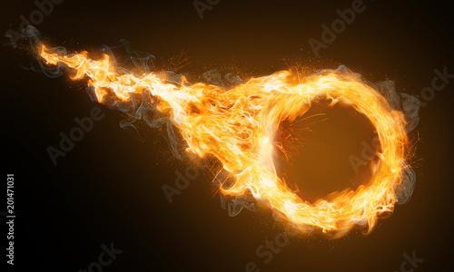 Obraz Feuerring mit Feuerschweif - fototapety do salonu