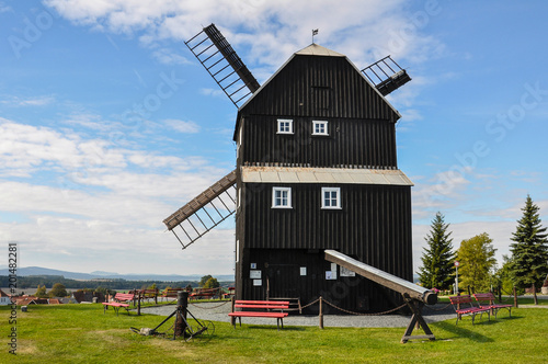 Photo  Windmill Saxony Upper Sorbian