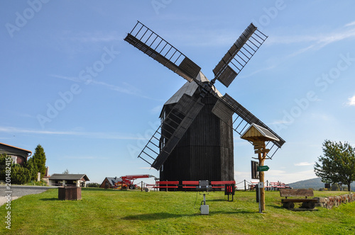 Photo  Windmill Saxony Upper Sorbian