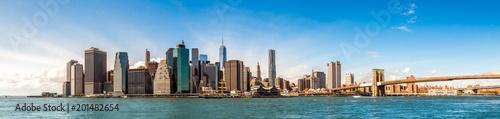 Foto op Plexiglas New York New York City Skyline, Manhattan and Brooklyn bridge view
