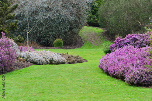 Foto auf Leinwand Khaki The Valley Garden England