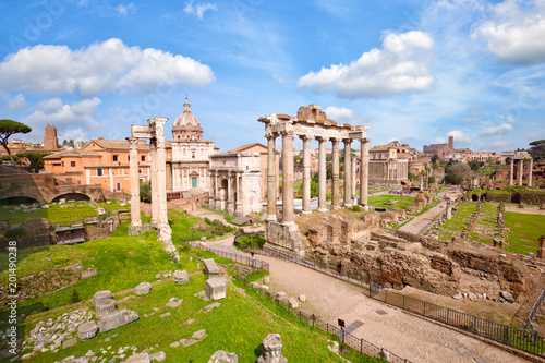 Foto op Canvas Rome Roman Forum ancient ruins in Rome, Italy