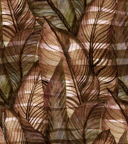 wzor-z-liscmi-bananowca-utrzymany-w-stylu-retro