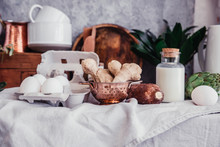 Still Life In Rustic Style Fre...
