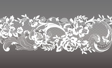 Floral Seamless Lace Ribbon