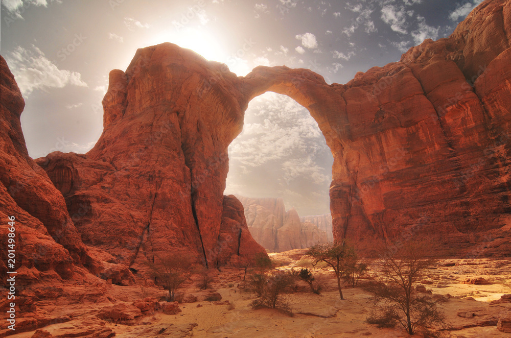 Arch of Aloba in desert of Ennedi, Chad