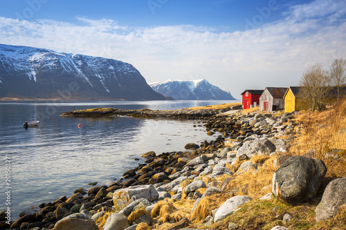 Spoed Foto op Canvas Kust Beautiful scenery of west Norway coastline